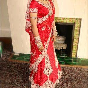 Red Modern Sari